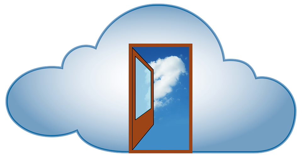 door in the clouds graphic